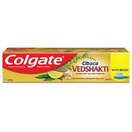 Colgate Cibaca Vedshakti Toothpaste - 160 gm with Free Toothbrush