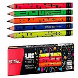 Nataraj Fluro Prints Pencils Pack of 10