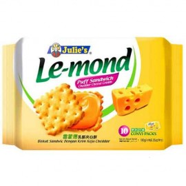 Julies Le-Mond Puff Sandwich Cream Biscuit 180 gm