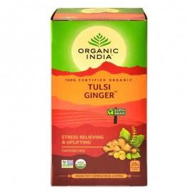 Organic India Tulsi Ginger Stress Relieving & Uplifting Tea Bags