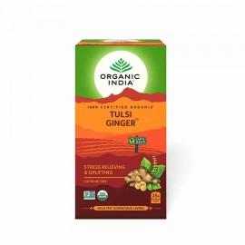 Organic India Tulsi Ginger Stress Relieving & Uplifting Tea Bags 25 Pc Box
