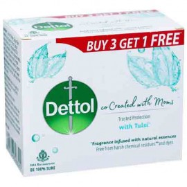 Dettol & Moms Tulsi Fragrance Soap 3+1 Free 300 gm